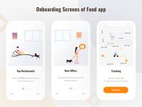 Onboarding Screens of Food App