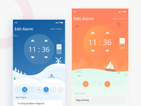 Alarm app with different themes