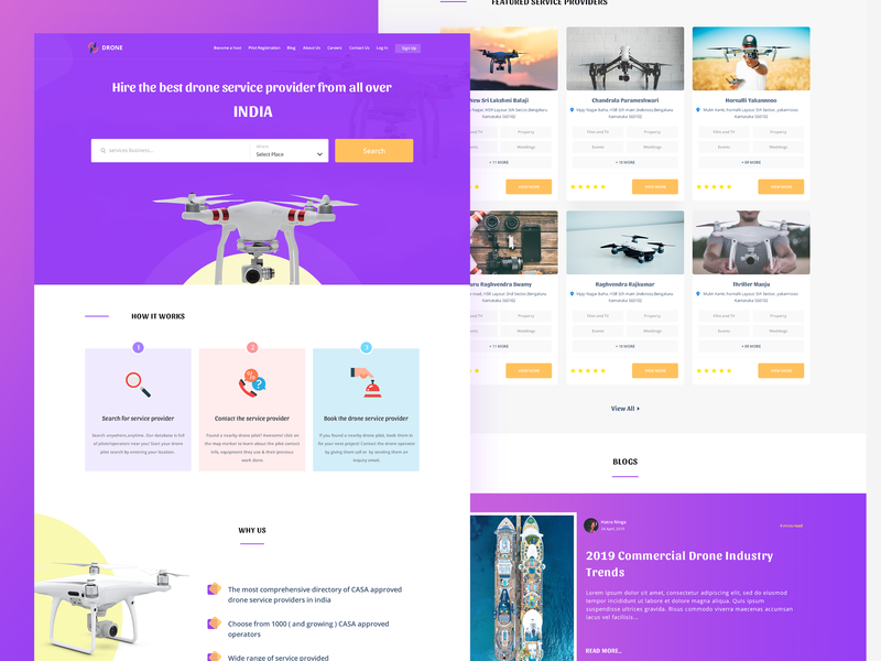 Drone Service Provider by Badri on Dribbble