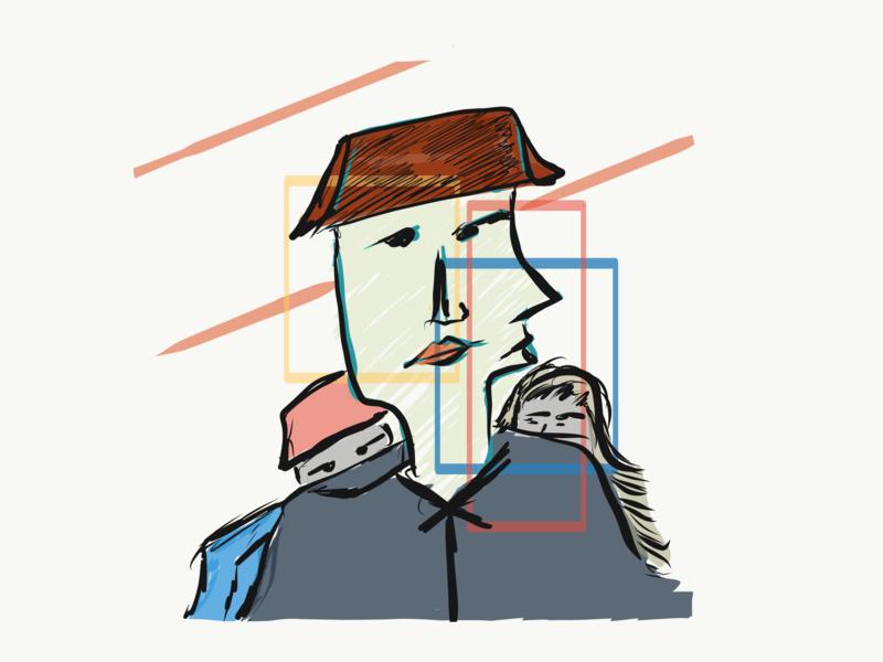 Stranger #3 flat expressionism concept illustrator