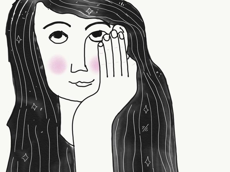 A dreamer apple pencil ipad design illustration expressionism