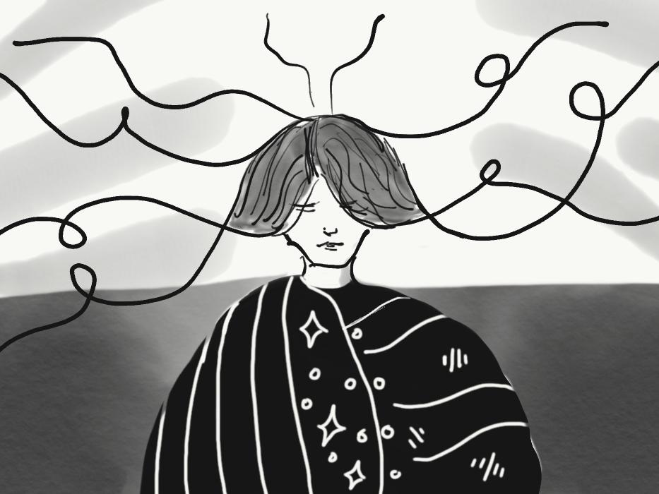 A Thinker original art art ipad apple pencil illustration expressionism