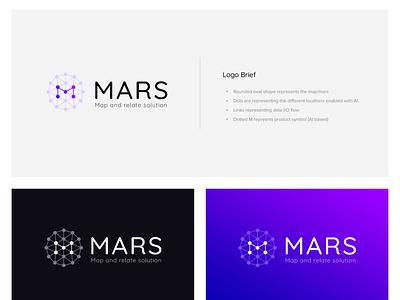 MARS Logo monogram logo purple mars ai graph ai graph icon iconic logo branding identity branding identity visual design visual art logo