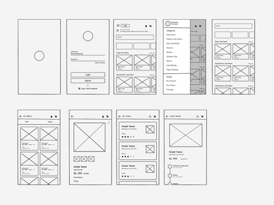 Mobile App Wireframe (UX) ux design login design lines sketch app design mobile app wireframe