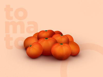 Tomato ui design orange tomato digital painting visual design concept website
