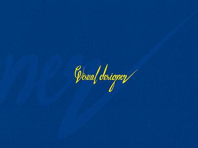 Typography designer typography design yellow text blue typography