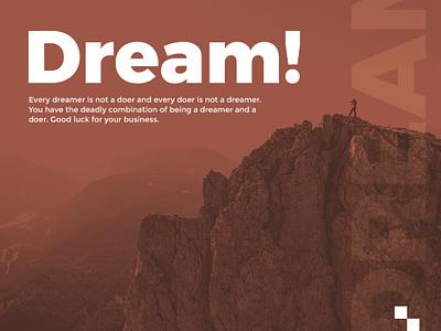 Dream! dreaming logical think dream website ui design branding landing page visual design