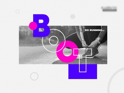 Do running boot runner running grey violet pink ui design logo visual design branding add post landing page footer shoes shoes lace
