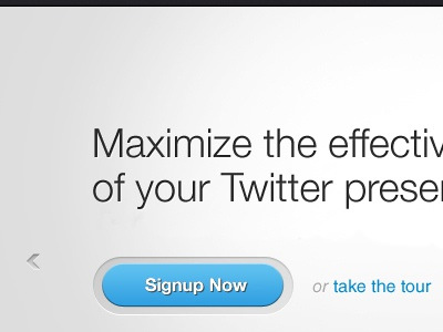 Maximize ui signup twitter