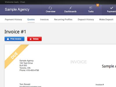 Invoicing Tool UI ui invoice
