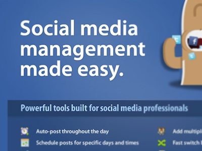 Social Media Management ui design web design