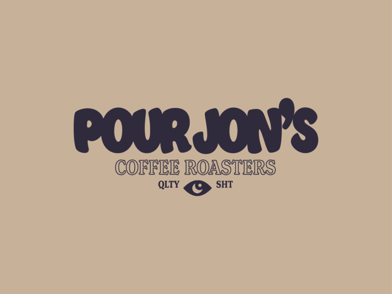 Pour Jon's Full Logo coffee illustrator logo design logo