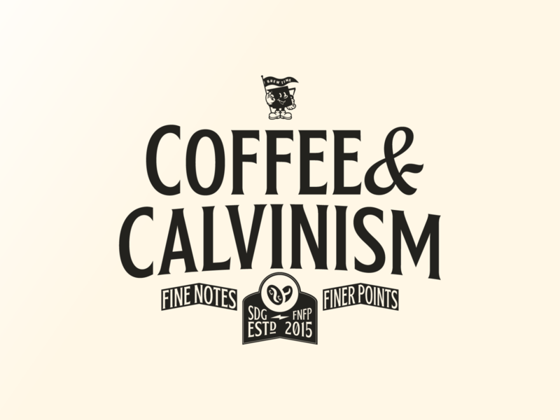 Coffee and Calvinism Final Logo branding coffee vintage logo illustrator