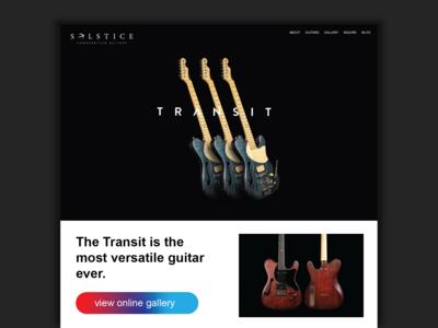 Solstice Guitars UX/Branding