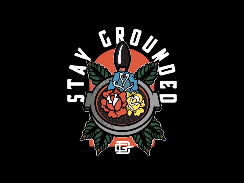 Stay Grounded Illustration for Daily Grind Provisions Co. typography apparel vector coffee illustration vintage illustrator