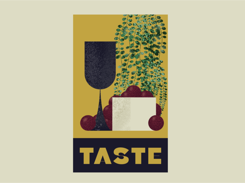 Visual Element for Taste brushes illustration vintage illustrator