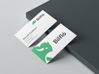Bilflo Business Card fresh business card clean business card clean saas saas logo buffalo logo green buffalo green logodesign bilflo.com businesscard business cards branding bison logo buffalo flow bill bilflo