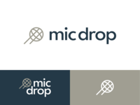 🎤mic drop mic logo microphone mic drop