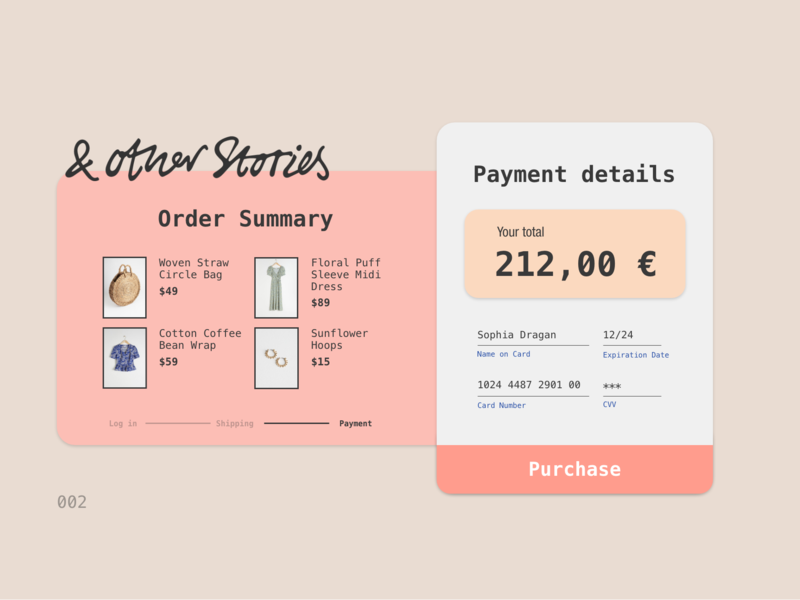 Daily UI 002   Checkout page payment checkout ux ui dailyui