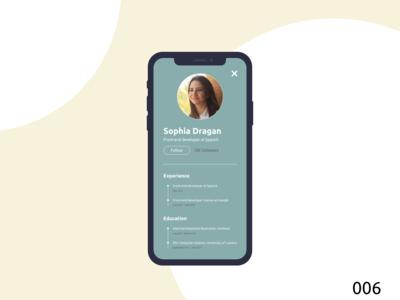 Daily UI005 | User Profile