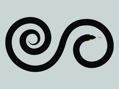 Coiled Snake visual design graphic design photoshop illustrator tattoo snake illustration