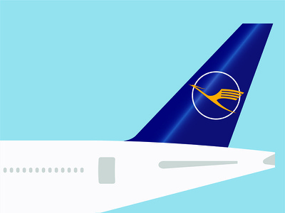 Lufthansa Tail proposal visual design graphic design photoshop illustrator 777 boeing rebrand lufthansa airline logo branding illustration