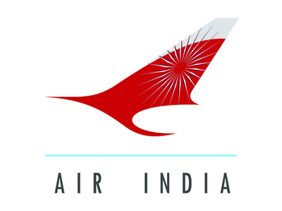 Air India logo air india visual design graphic design photoshop illustrator rebrand wheel swan airline logo branding illustration
