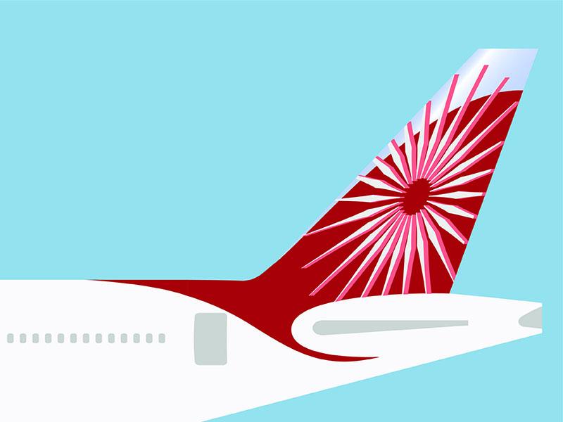 Air India Tail proposal air india visual design graphic design photoshop illustrator 777 boeing rebrand airline logo branding illustration