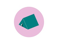 Icons and Colors: {20} Teal Tent