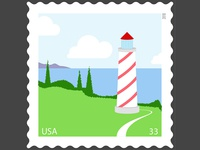 Lighthouse Stamp