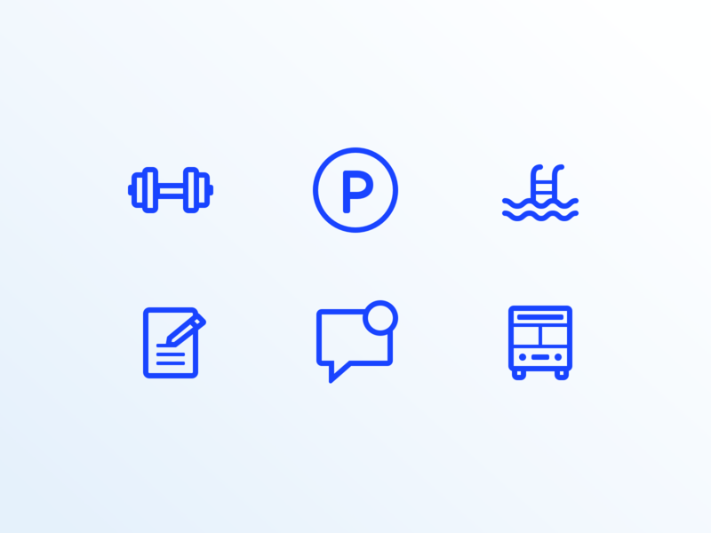 Travel App Icons lines blue strategy product ui app travel app design illustration geometric graphic design icons