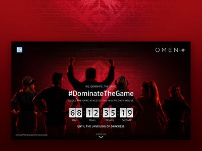 OMEN Landing Page red black web design ui photography dota game hewlett-packard hp omen
