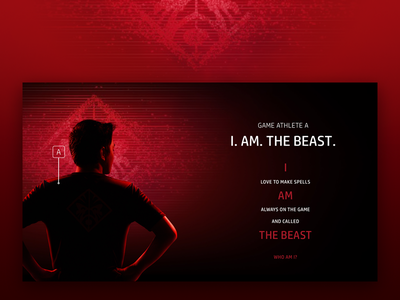 OMEN Pro Gamers counter strike copywriting web design ui red photography omen hp hewlett-packard game dota black