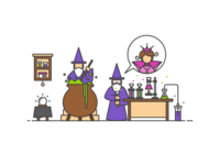 Grumpy Wizards Make Toxic Brew For the Jovial Queen