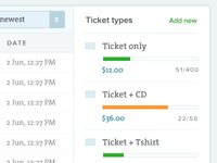 Tickets types