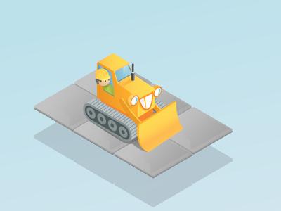 bulldozer game main character