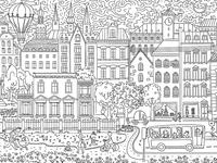 Sketchy city landscape