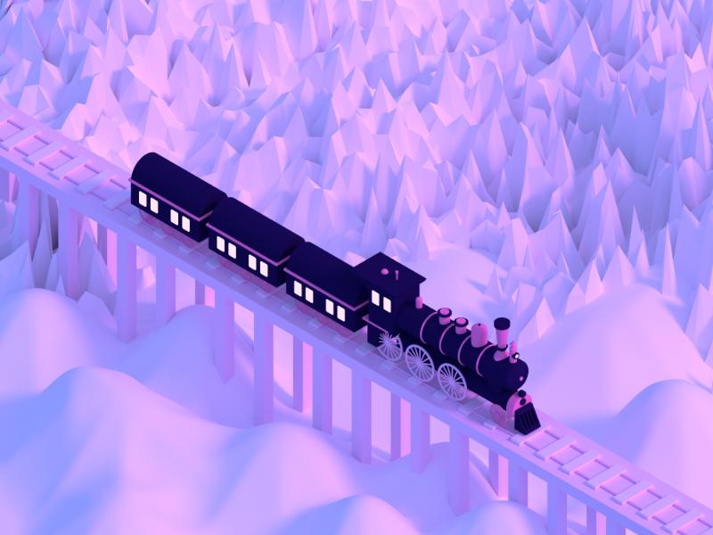 Train dribbble