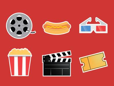Movie & Snack Icons