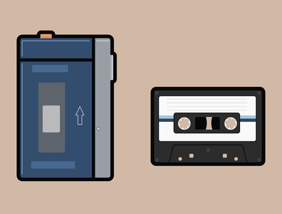 Cassette Tape & Walkman