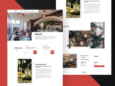 Landing page - Coffee shop
