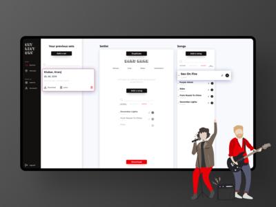 Setlistory - Setlist making app
