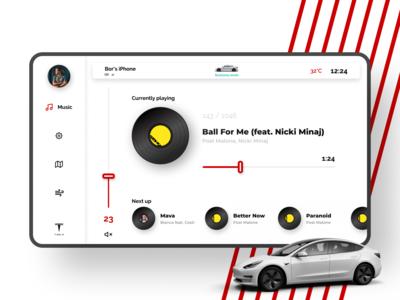 Tesla Dashboard - Music