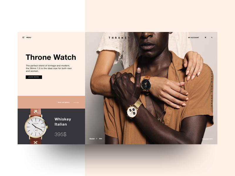 Daily UI Challenge #003 - Throne Watch Landing Page simple design minimal webdesign web ux ui landing watch
