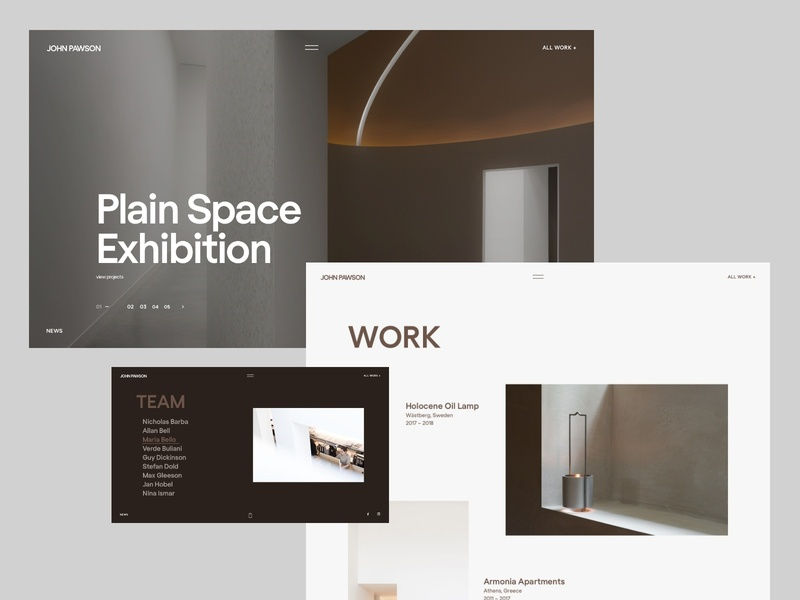 John Pawson. fullscreen website architect interior minimal flat landing web ux ui