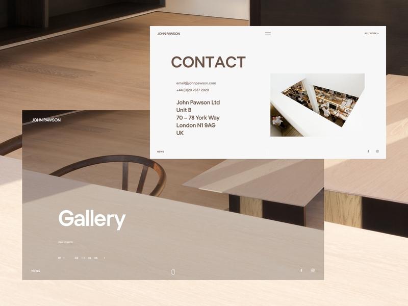 John Pawson. designer architect fullscreen landing flat website studio minimal web ux ui