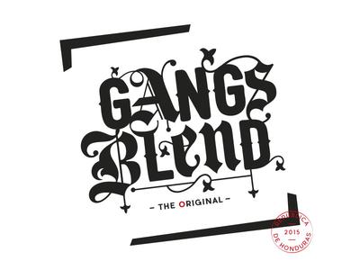 Gangs Blend typography design logo coffee shop