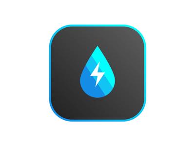 Hydro ui application blue turbine hydroelectric app