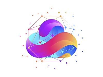 LOGO branding blue icon design vector illustrator digital colours logo