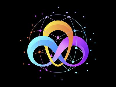 Logo design icon blue colours vector illustrator logo illustration design